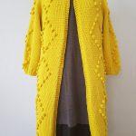 Geltonas Rico F Jersey megztukas paltukas su burbuliukais
